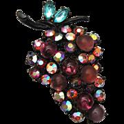 SALE ART Purple Grape Cluster Brooch