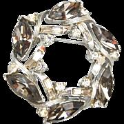SALE Kramer Black Diamond Rhinestone Brooch