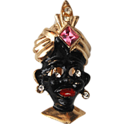 SALE Blackamoor Figural Brooch