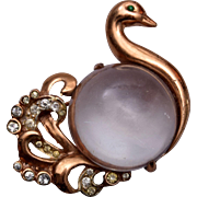1945 Coro Sterling Jelly Belly Swan Brooch