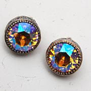 SALE AB Topaz Rhinestone Earrings