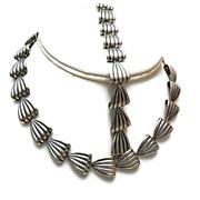 SALE 1952 Sterling Napier Necklace and Bracelet Set - Book Piece