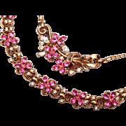 SALE Trifari 1951 Patent Pending Bracelet and Necklace Set