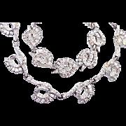 SALE Charel Rhinestone Necklace and Bracelet Set