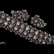SALE Kramer Net Covered Bracelet and Earring Set