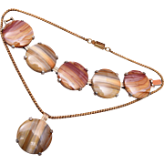 SALE Banded Agate Bracelet and Necklace