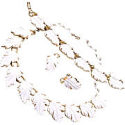 Lisner Full White Leaf Parure