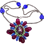 SALE Schreiner Art Glass Brooch / Pendant