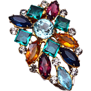 Multi Colored Rhinestone Dress Clip