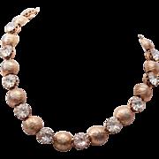 Kramer Gold Tone Head Light Necklace