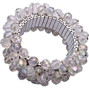 Faceted Crystal Cha Cha Expansion Bracelet