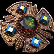 SALE DODDs Maltese Cross Brooch or Pendant