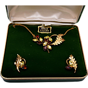 SALE Dansal Gold Filled Necklace and Earring Set in Original Box