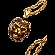 Sterling Lion Necklace