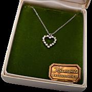 Krements 14kt Gold Overlay Heart Rhinestone Necklace