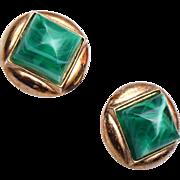 SALE Trifari Green Lucite Earrings