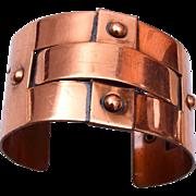 """Copper Cuff Bracelet 1-1/2"""" Wide"""
