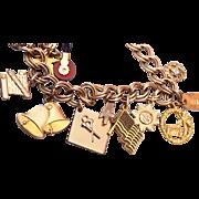 1/20 12kt GF 1970's Charm Bracelet