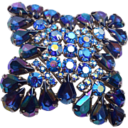 SALE Blue AB Brooch - Lovely Condition