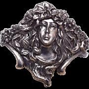 Art Nouveau Cuff Bracelet