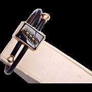 1879 Black and Marcasite BiPass Bracelet