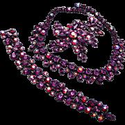 Claudette Red and Purple Rhinestone Set