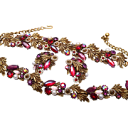 SALE Gorgeous Red and Purple Parure