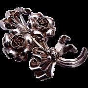 Hobe Sterling Patent Pending Flower Brooch