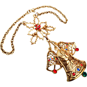 Beatrix Christmas Bell Necklace