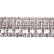 SALE Wide Rhinestone Bracelet