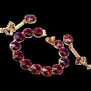Weiss Rivoli Crystal Bracelet and Dangling Earring Set