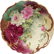 Vintage Limoges Bowl Hand Painted Roses