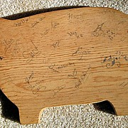 Pig Cutting Board Signed By The Class Of 1943
