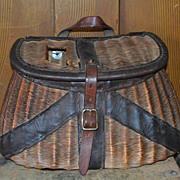 Early Tight Weave Creel Leather Bound