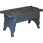 Mortised Foot Stool From Berks County PA