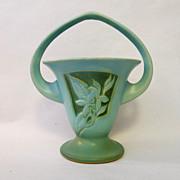 SALE Roseville Pottery Blue Silhouette Basket