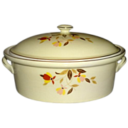 REDUCED Hall Jewel Tea Autumn Leaf Collector's Club Covered Casserole