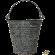Vintage Zinc Metal French Bucket / Pail