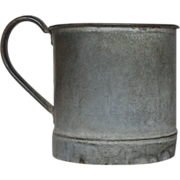 XL Very Vintage Zinc Measure / Pail / Bucket