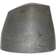 REDUCED RARE Metal Hat Form/ Hat Block/ Millinery