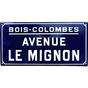 "French Enamel Street Sign - ""Avenue the Cute"""