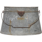 Aged Zinc French Fish Carrier