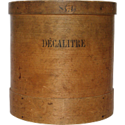 SOLD Bent Wood French Salt Container - Pantry Box