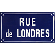 French Enamel Street Sign - Road from LONDON