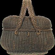 Early 1900s French Wicker Basket