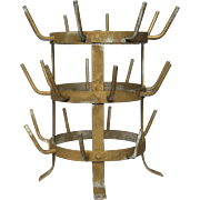 SALE French Wine Bottle Drying Rack - Herisson