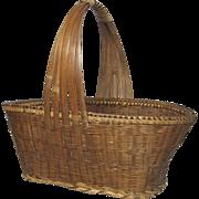 Fantastic Vintage French Woven Reed Basket