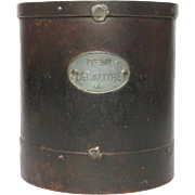 Industrial French Metal Measuring Pail / Measure