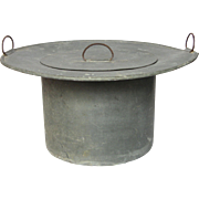 Very Vintage French Zinc Lidded Bucket / Pail