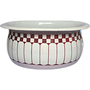 SOLD RESERVED - 19th C French Enamel Tub - Jardiniere